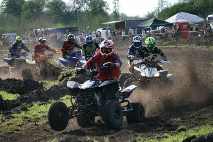 Bij de quads won Nick Hazeleger uit Putten.