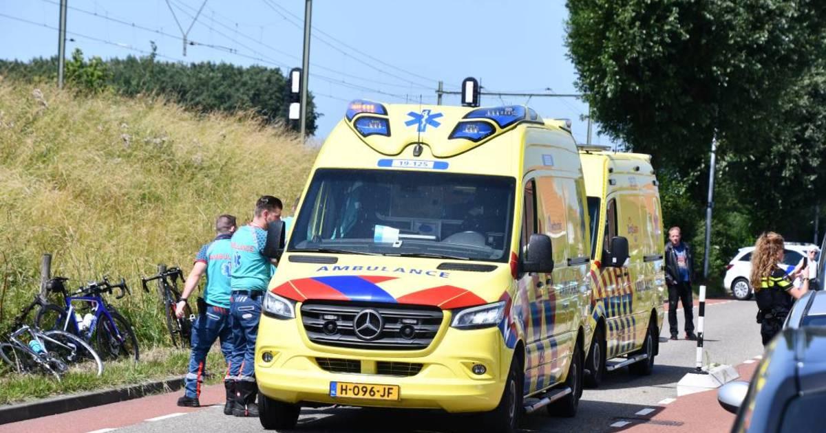 Wielrenner gewond bij ongeluk in Oost-Souburg.