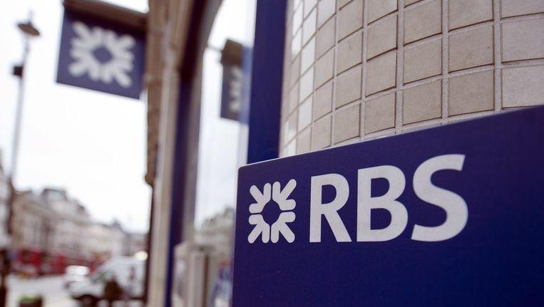 Een vestiging van de Royal Bank of Scotland in Londen. Beeld afp