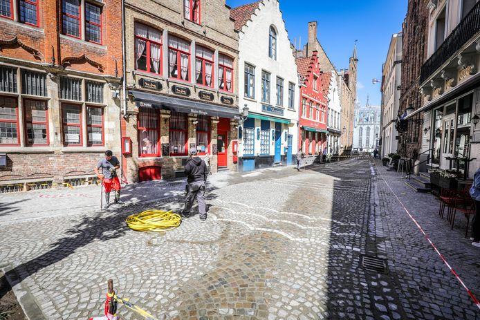 De Sint Amandsstraat is zo goed als afgewerkt