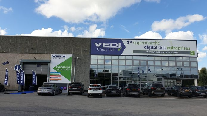 Vedi, le premier supermarché en ligne des entreprises se situe à Gosselies (Charleroi)