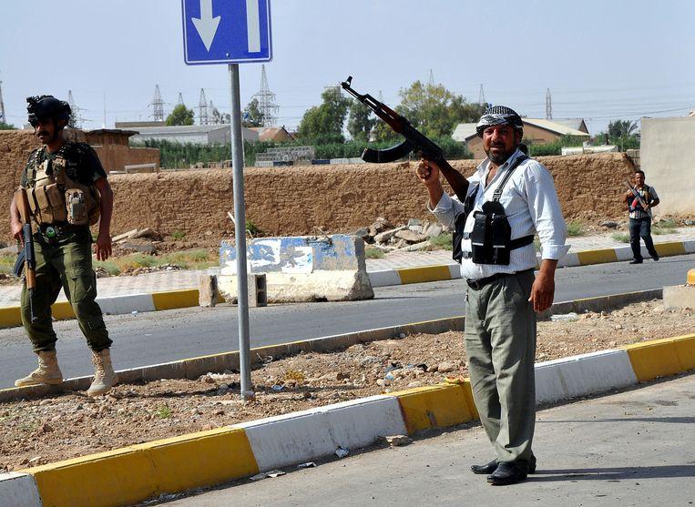 Koerdische Pesmerga-troepen nabij Kirkuk. Beeld getty