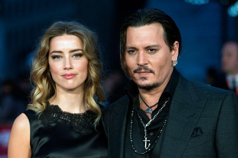 Amber Heard en Johnny Depp Beeld EPA