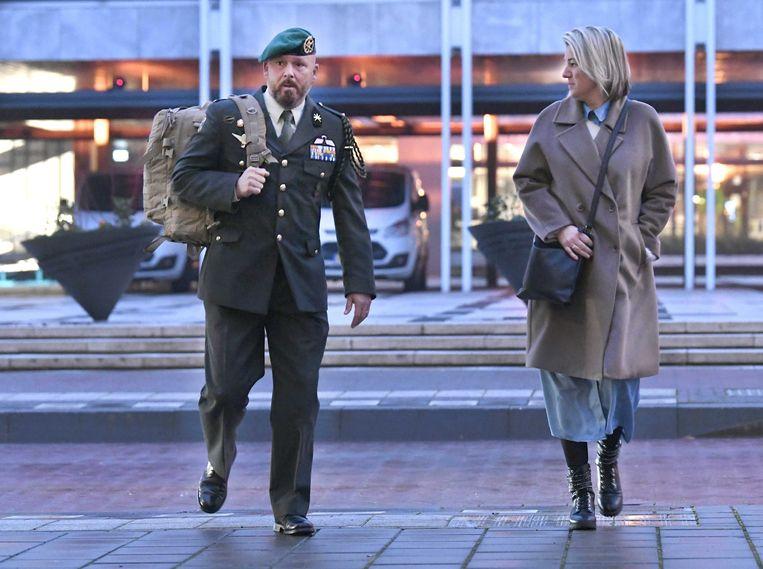 Marco Kroon en zijn vrouw eerder deze maand bij de rechtbank. Hij was vandaag niet bij de uitspraak aanwezig.  Beeld ANP