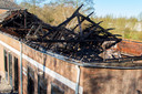 De ravage die zaterdagochtend te zien was na de brand bij De La Salle in Boxtel.
