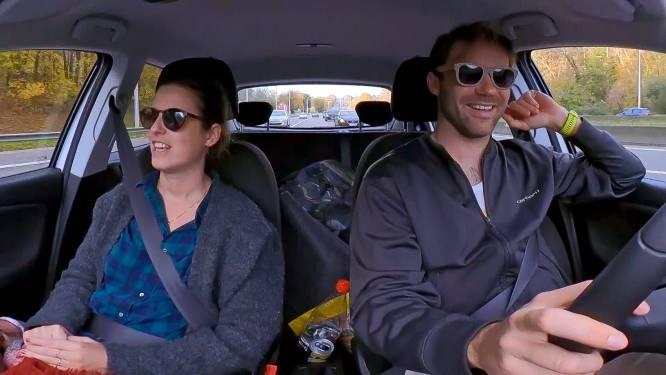 Roadtrip zorgt voor ongedwongen sfeer tussen Dave en Hanne uit 'Blind Getrouwd'