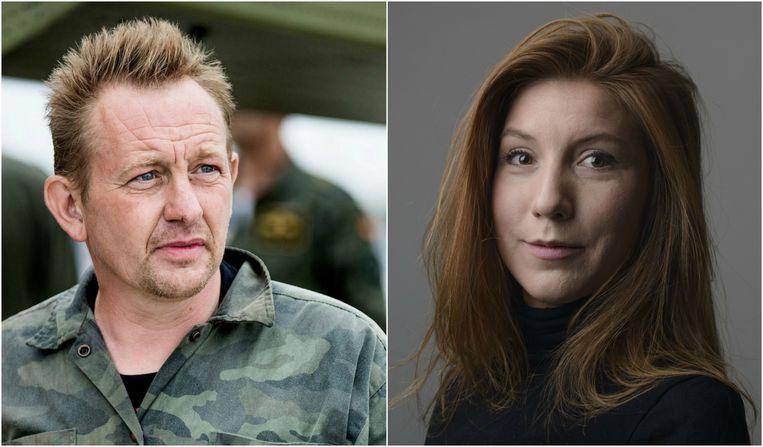 Peter Madsen en Kim Wall. Beeld EPA/AP