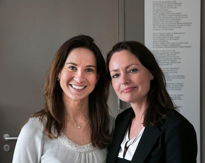 Patrycja Mroz (links) en Maartje van Moorsel van de LEVgroep. Zij ondersteunen arbeidsmigranten in de Peel.