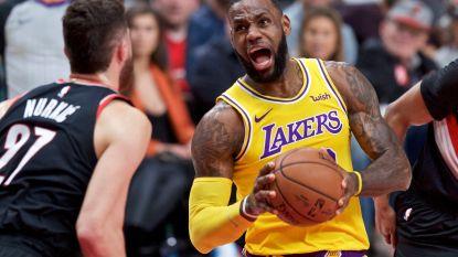 LeBron James leidt Lakers naar eerste zege tegen Portland in zeventien duels