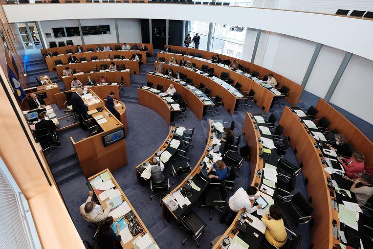 Het Brussels Parlement. Dit bestuursniveau zou meer macht meer krijgen in Brussel, stelt een studie. Beeld BELGA