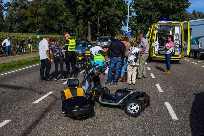 Ongeluk op de Weg van Bakel in Helmond.