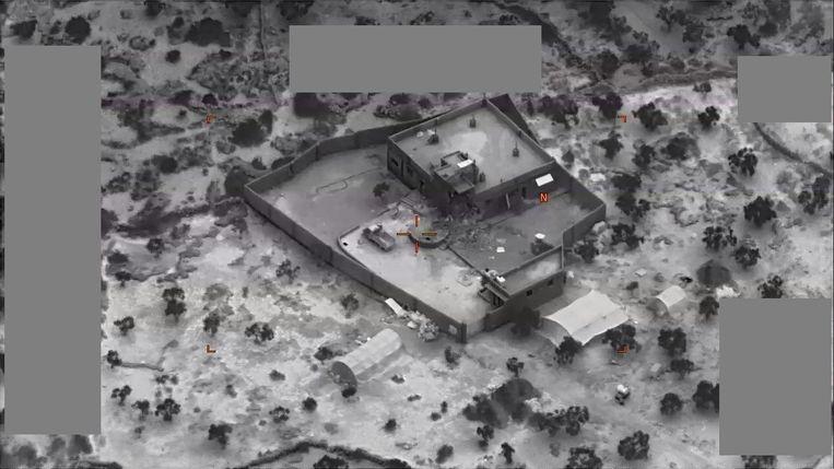 Het gebouw waar Al-Baghdadi zich schuilhield. Beeld US Central Command