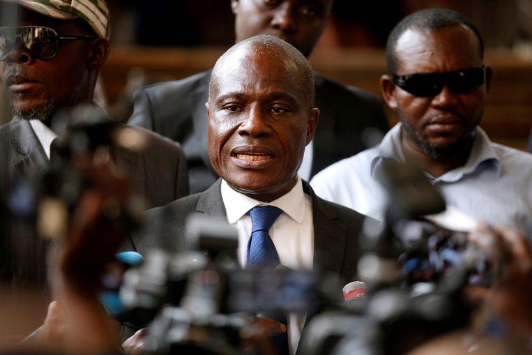Oppositiekandidaat Martin Fayulu roept de internationale gemeenschap op om de andere oppositiekandidaat, Félix Tshisekedi, niet te erkennen.  Beeld REUTERS