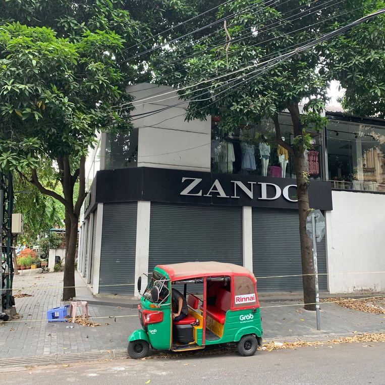 Zando-filiaal als een besmettingshaard. Beeld