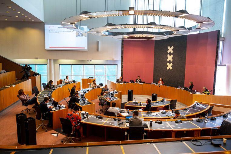 Archieffoto Amsterdamse gemeenteraad Beeld ANP