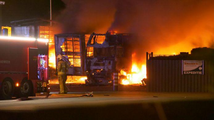 De branden van vannacht bij eendenslachterij Duck-to Tomassen zijn volgens de directeur veroorzaakt door dierenactivisten.