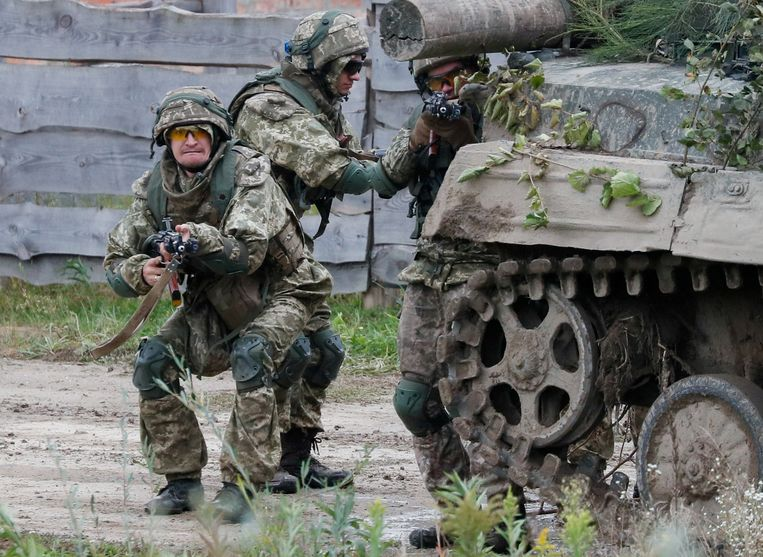 Beeld van de Rapid Trident 2021-oefening van de NAVO en de VS in het westen van Oekraïne. Beeld Reuters