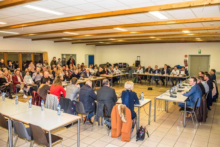 De installatie van de gemeenteraad vond plaats in het OC in Strijpen.