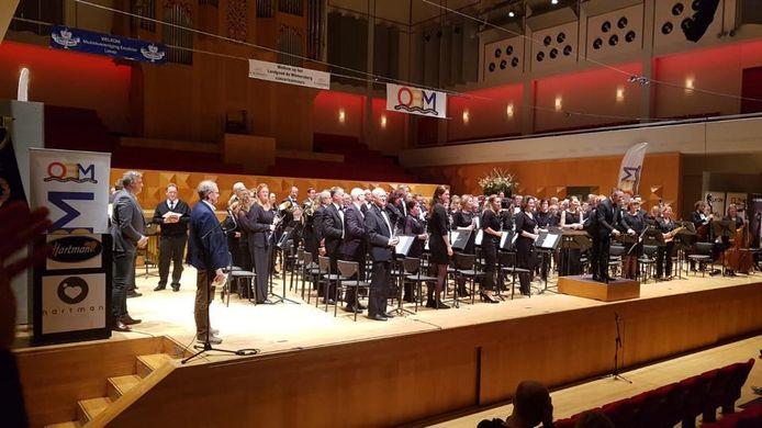 Het symfonisch blaasorkest van Sophia's was de beste in Muziekcentrum Enschede.