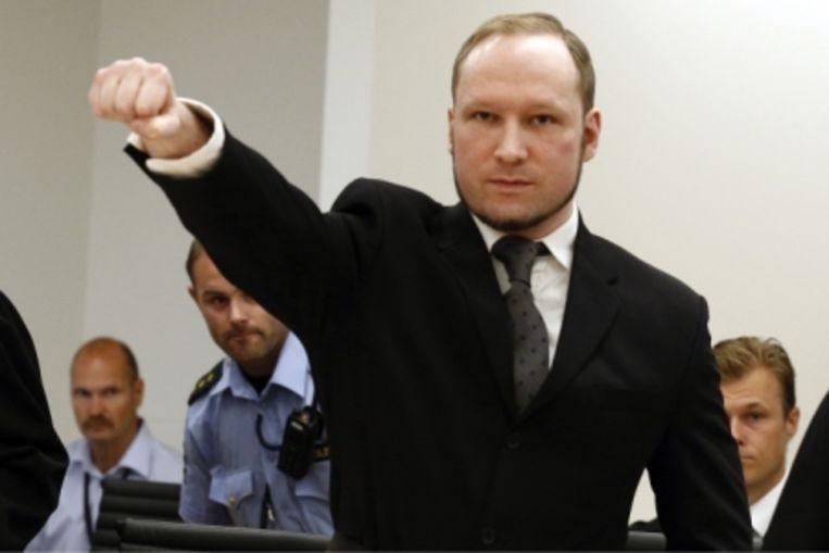 Anders Breivik gold als een inspiratiebron voor Brenton Tarrant, de man achter de aanslag in Christchurch.  Beeld Reporters