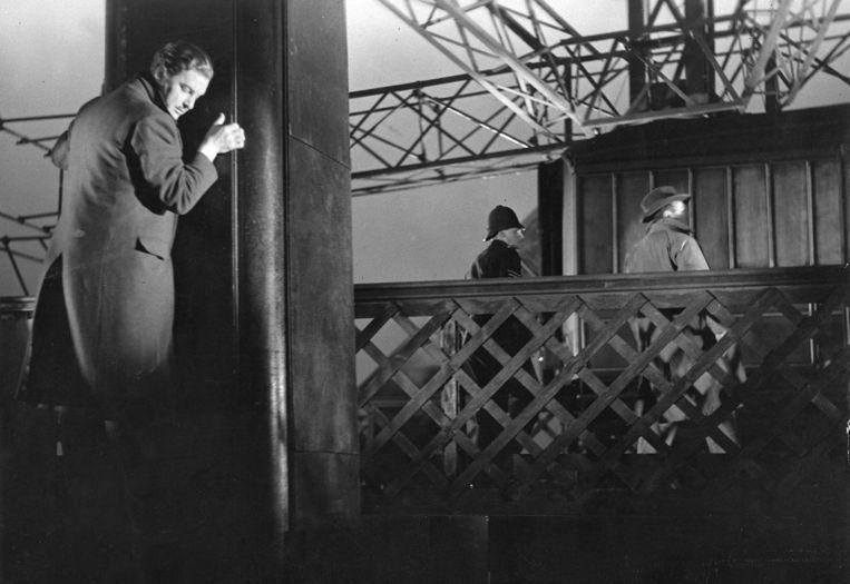 Robert Donat in The 39 Steps van Alfred Hitchcock. Beeld
