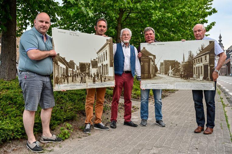 Duizend jaar Grembergen, dat laten ze in het dorp niet zomaar passeren. Grote fotopanelen moeten blijvend aan de geschiedenis herinneren.