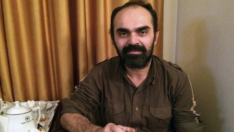 Bunyamin Aygun in een hotel in een hotel na de vrijlating. Beeld ap