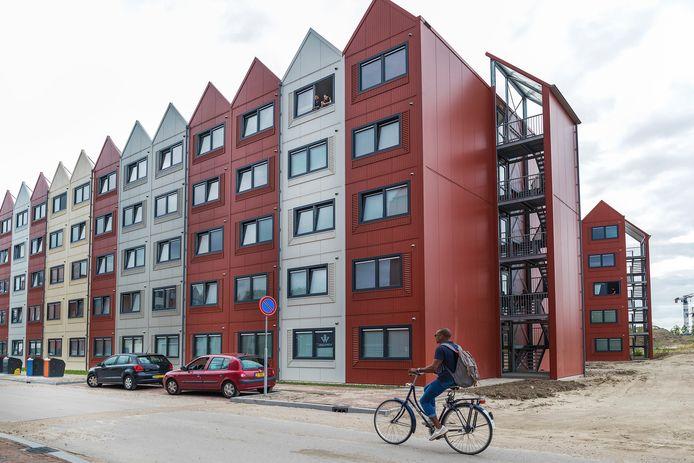 Place2bU in Leidsche Rijn. De prefabkamers worden in 2027 weer afgebroken.