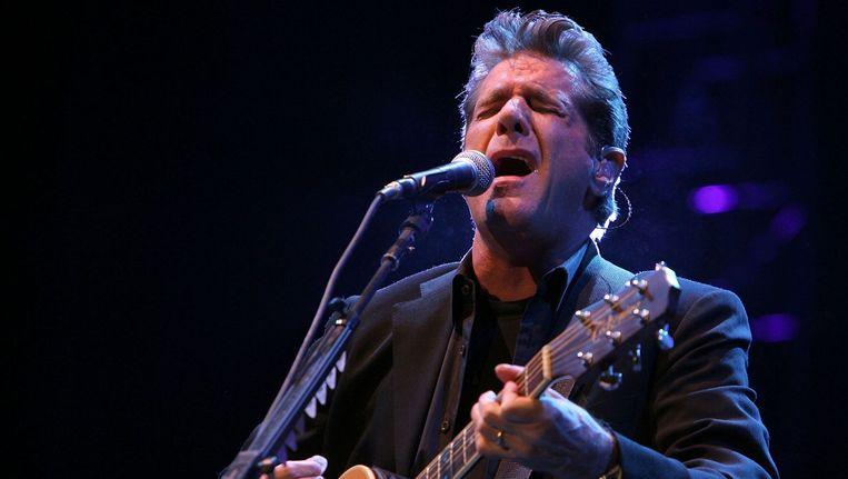 Glenn Frey tijdens het Amerikaanse country festival Stagecoach in 2008 Beeld AFP