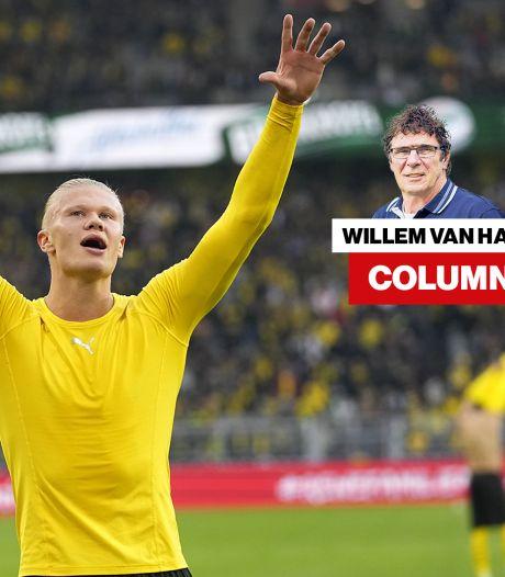 Column Willem van Hanegem | Als Ajax probleem-Haaland oplost mag je met complimenten strooien, niet als Oranje van Gibraltar wint