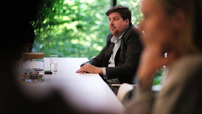 Tope Fit Leiedal, voorzitter Jeremie Vaneeckhout (Groen)