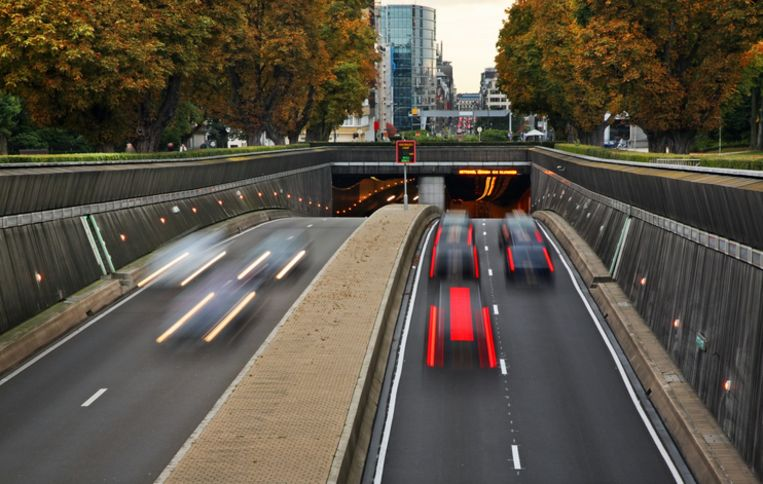 Jubelparktunnel in Brussel.