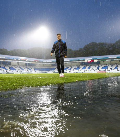 Noodweer legt promotieduel De Graafschap stil: 'Heel vervelend, maar gaan niet álle wedstrijden stilleggen'
