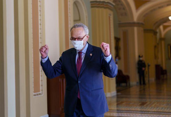 De meerderheidsleider van de Senaat, Chuck Schumer, reageerde bijzonder tevreden.