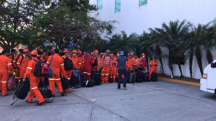 Mexicaans personeel van Oceanwide, de Vlissingse leverancier van maritiem personeel.