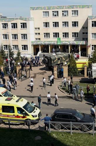Meerdere doden en gewonden na schietpartij op Russische school: oud-leerling die schietpartij aankondigde op Telegram gearresteerd