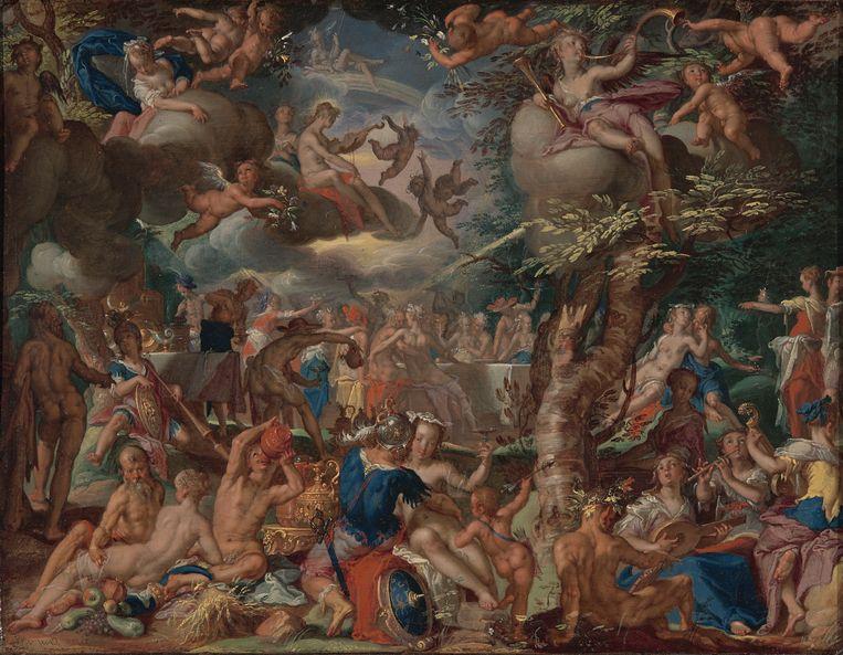 Joachim Wtewaels (1566-1638) De Bruiloft van Cupido en Psyche.  Beeld Centraal Museum