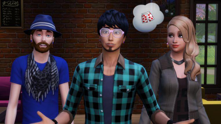 Drie potentiële personages uit 'The Sims 4', als u een hipster wilt maken van uw online alter ego's. Beeld EA