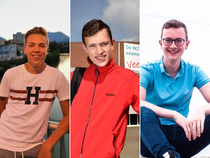 Deze leerlingen zijn al klaar met hun eindexamen, v.l.n.r. Thom Zwaan, Ruben Kok en Vincent van den Berg.