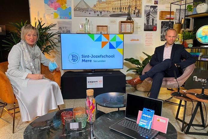 De voorstelling van Kristof De Coninck als opvolger van Lut Matthijs en directeur van de secundaire Sint-Jozefschool in Mere gebeurde tijdens een digitale infoavond.
