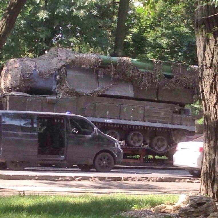 De Buk-telar tijdens het transport in Oekraïne. De foto werd gepubliceerd door het JIT.  Beeld JIT