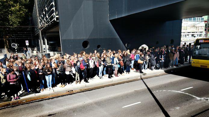 Altijd druk: de bus naar de Uithof