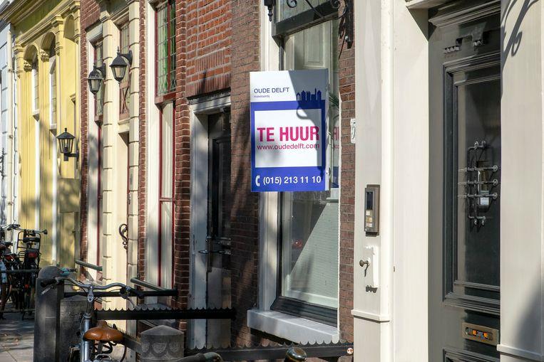 Huis te huur in de binnenstad van de stad Delft. Beeld Hollandse Hoogte / Hans van Rhoon
