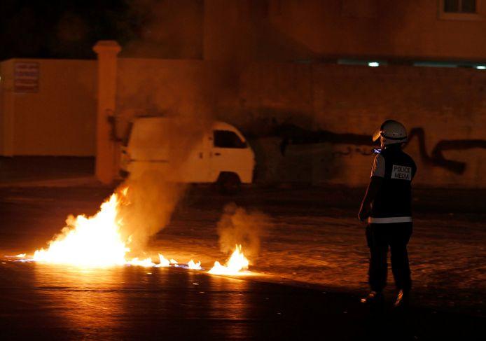 Molotov cocktails veroorzaken brand, zoals te zien op deze archieffoto.