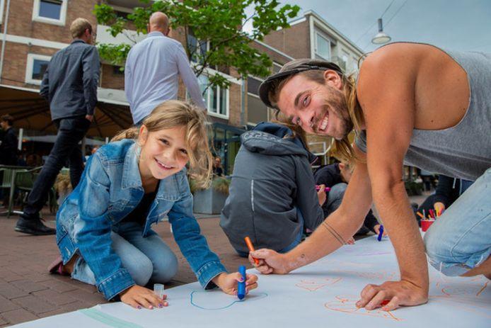 Het tekenfestival is voor jong en oud.