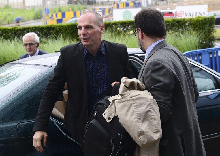 De Griekse minister Yanis Varoufakis. Beeld AFP