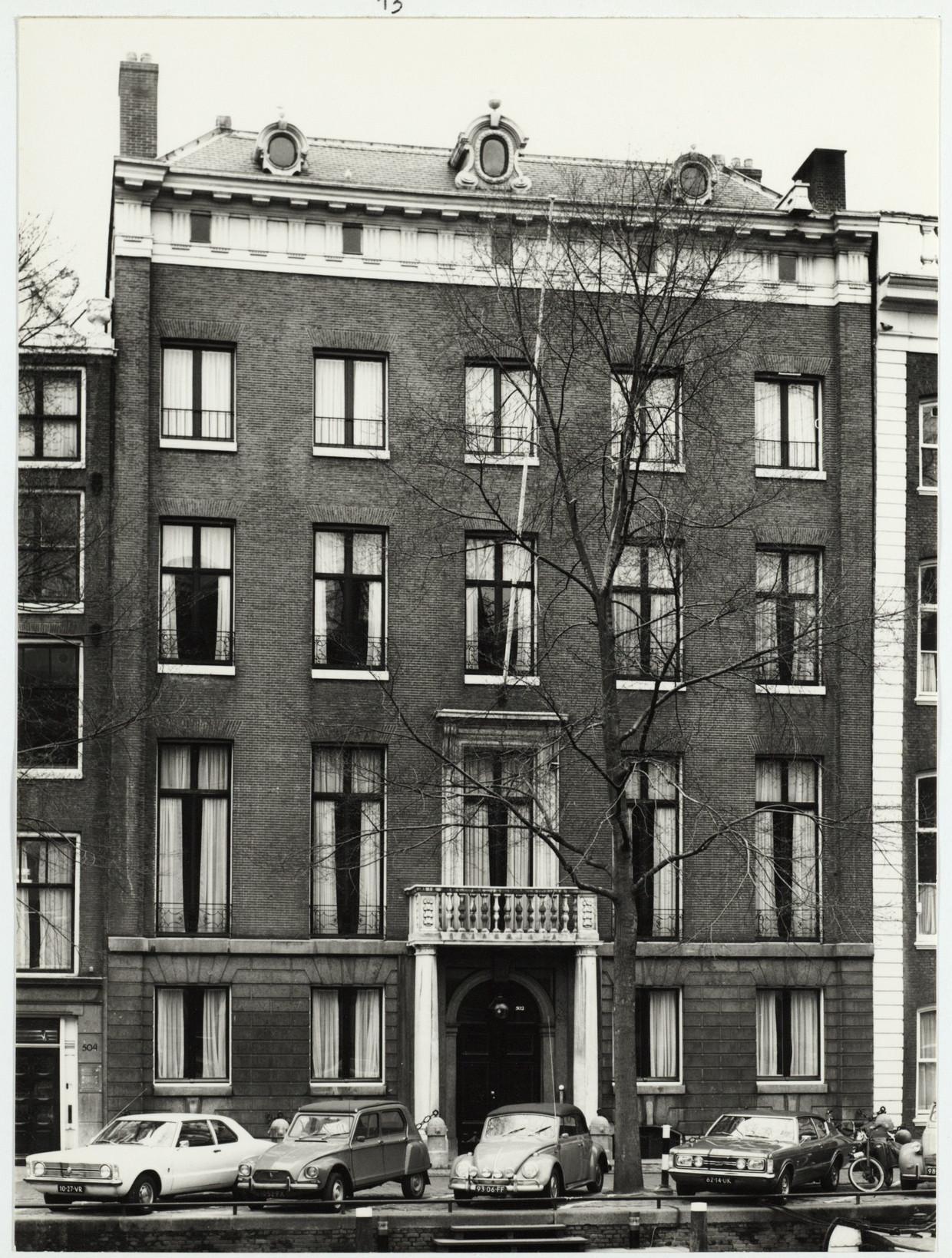 Het Huis met de Kolommen, Herengracht 502, hier in 1973. Beeld Stadsarchief