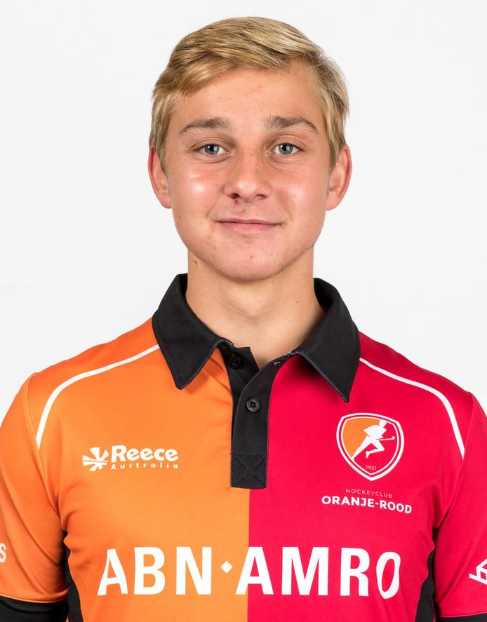 Max Kuijpers, middenvelder van Oranje-Rood