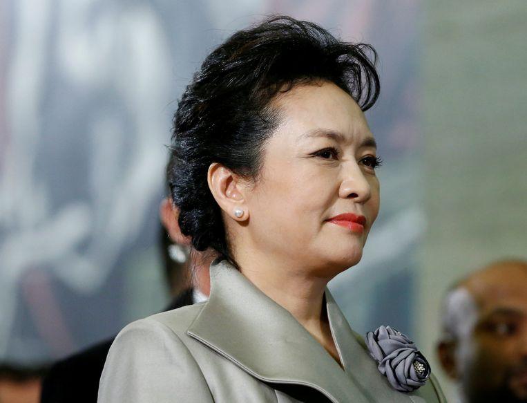Zangeres Peng Liyuan, de vrouw van de Chinese president.  Beeld REUTERS