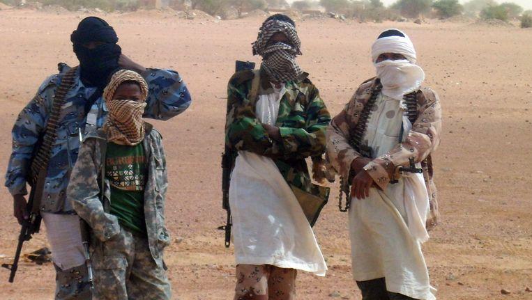 Militanten van Ansar Dine in Kidal Beeld AFP